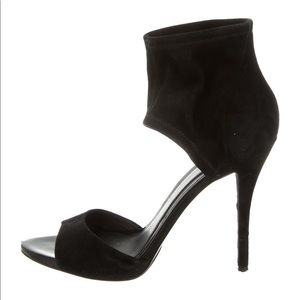 Brian Atwood Black Suede Sandals Sz. 39